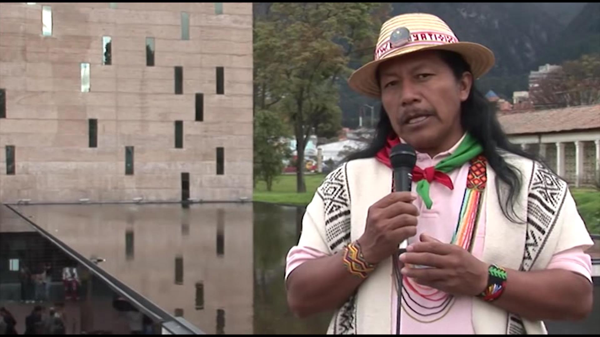 Feliciano Valencia, líder indígena.