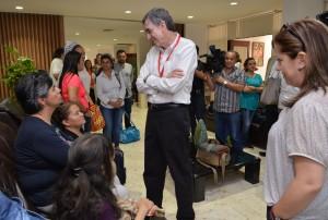 Las víctimas del conflicto a su llagada a La Habana