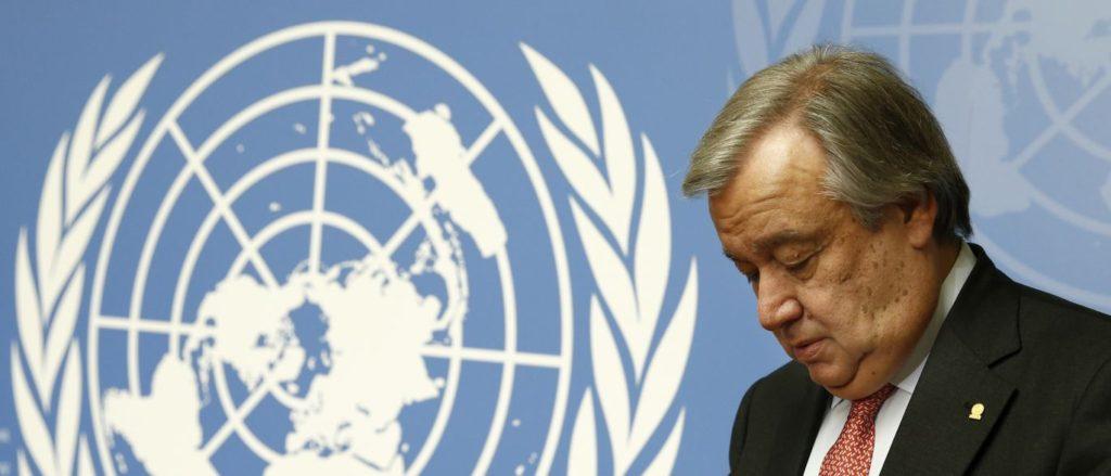 Carta a António Guterrez Secretario General de las Naciones Unidas