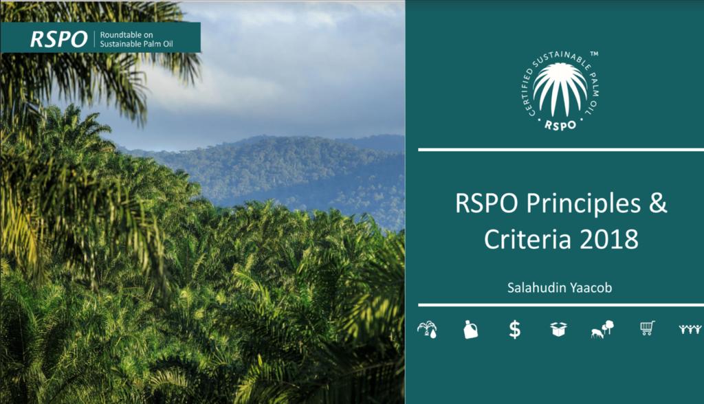 Estándares de certificación RSPO – lineamientos prácticos para la implementación de P&C2018