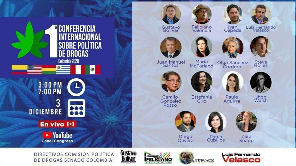 Intervención de Camilo González Posso en la Primera Conferencia Internacional sobre política de drogas – Colombia 2020